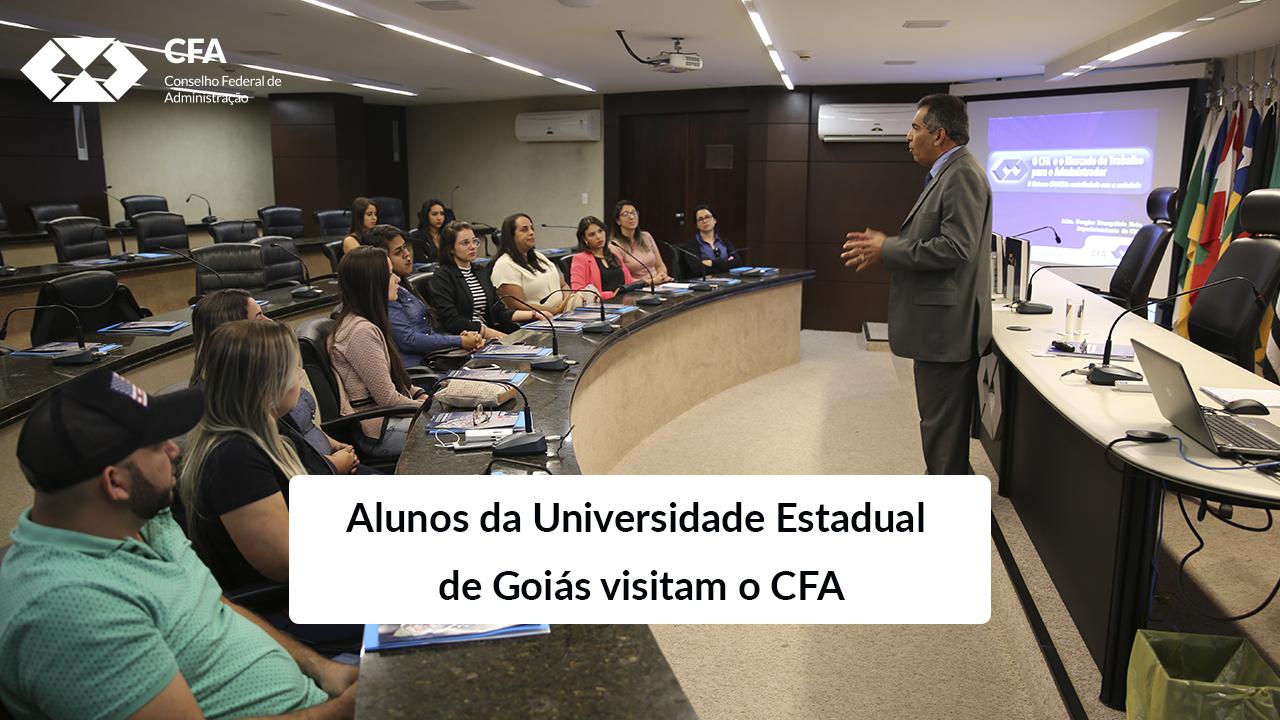 Alunos da Universidade Estadual de Goiás visitam o CFA