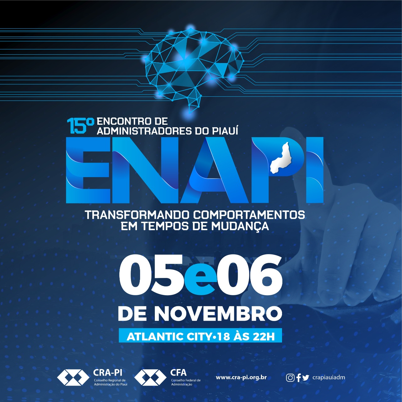 CRA-PI promoverá 15º ENAPI nos dias 05 e 06 de novembro