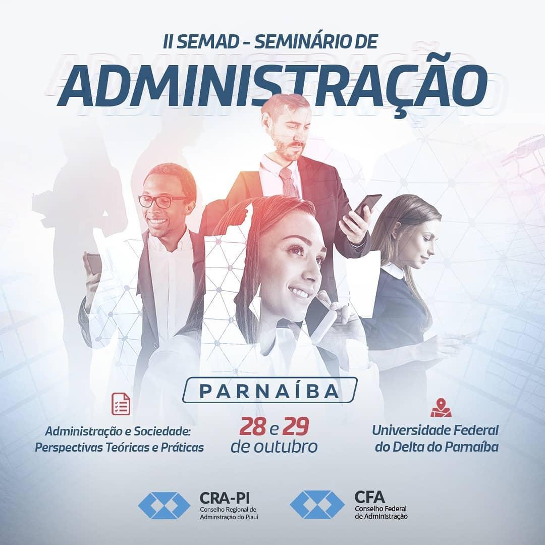 CRA-PI realizará II Seminário de Administração em Parnaíba dias 28 e 29