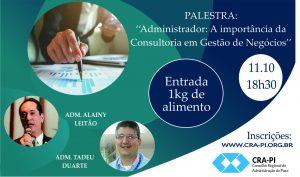 CRA-PI realizará palestra sobe consultoria e gestão de negócios