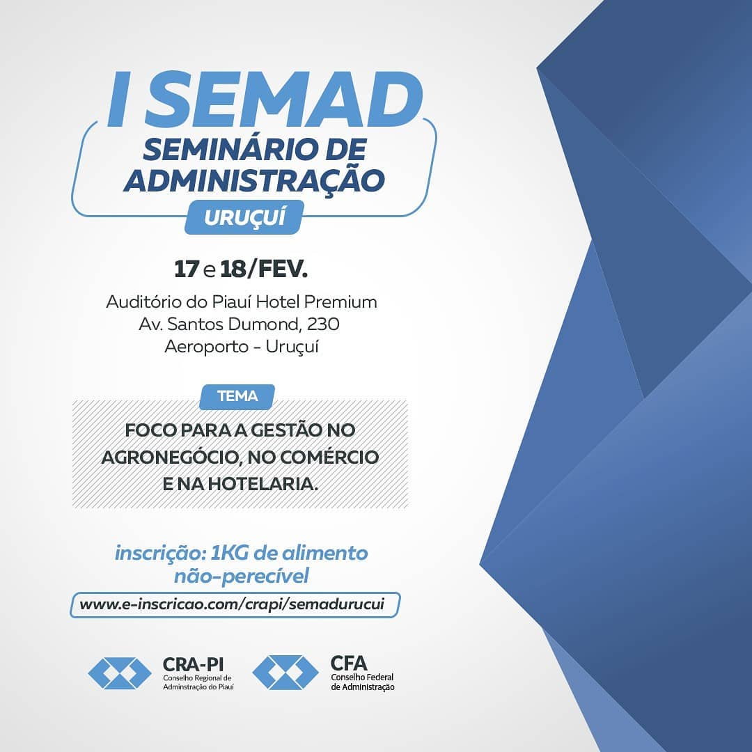 Uruçuí recebe I Seminário de Administração (SEMAD)