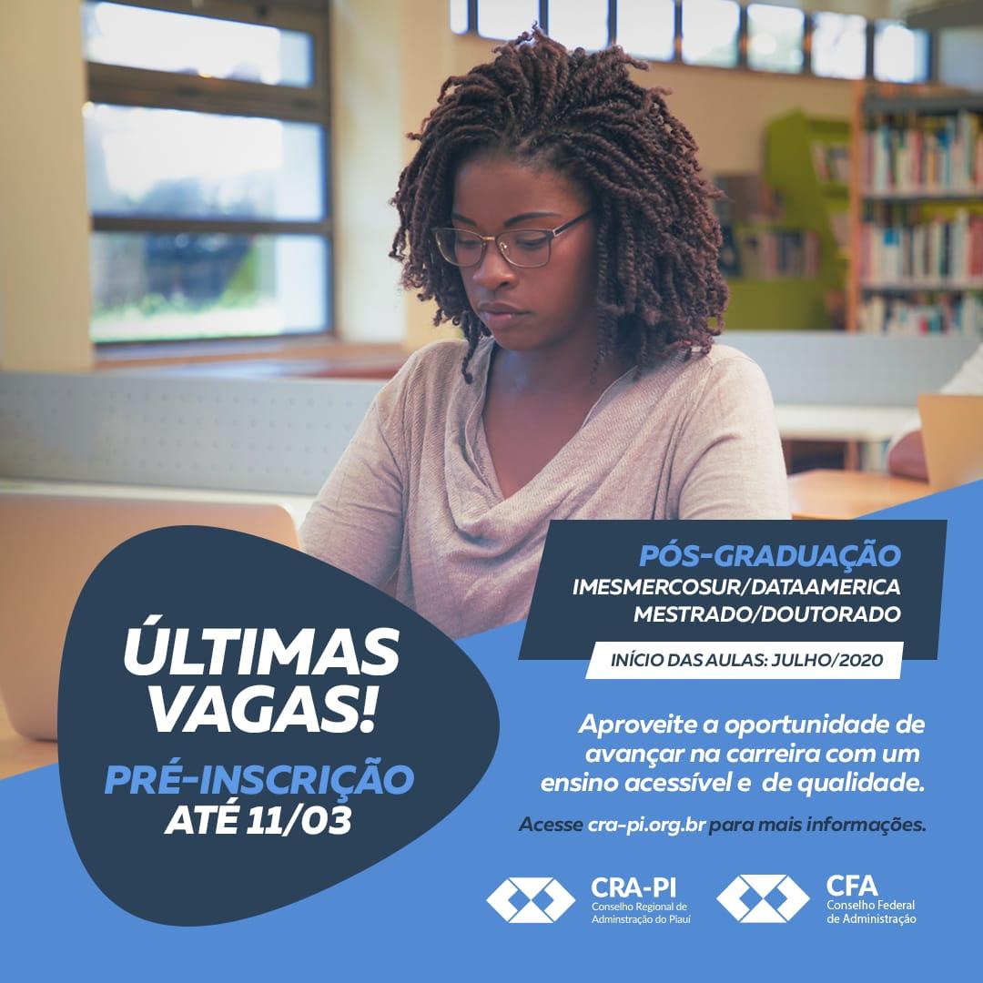 Últimas vagas: inscrições para o curso de Mestrado/Doutorado da ImesMercosur encerram na próxima quarta (11)