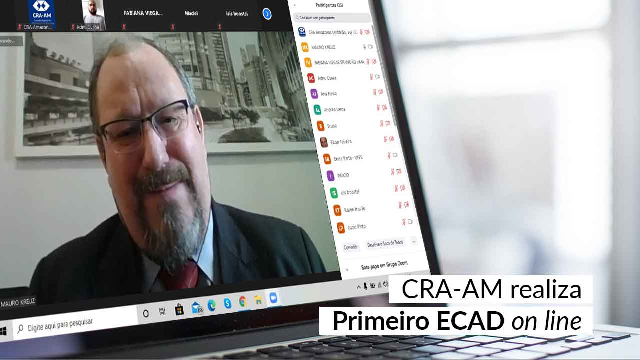 Presidente do CFA, Mauro Kreuz participa do primeiro ECAD on line